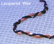 Stitch-Attached Lacquered Wire